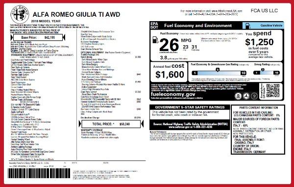 New 2018 Alfa Romeo Giulia Ti Q4 for sale Sold at Alfa Romeo of Greenwich in Greenwich CT 06830 2