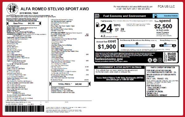 New 2019 Alfa Romeo Stelvio Q4 for sale Sold at Alfa Romeo of Greenwich in Greenwich CT 06830 26