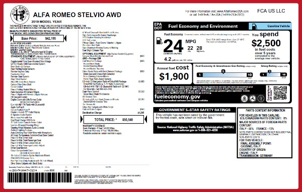 New 2019 Alfa Romeo Stelvio Q4 for sale Sold at Alfa Romeo of Greenwich in Greenwich CT 06830 2