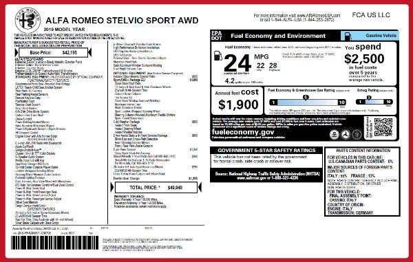New 2019 Alfa Romeo Stelvio Sport Q4 for sale Sold at Alfa Romeo of Greenwich in Greenwich CT 06830 26