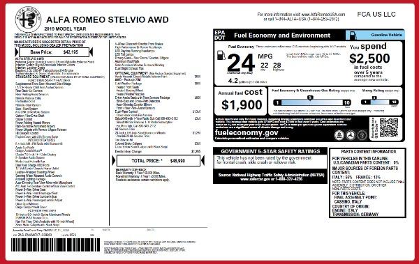 New 2019 Alfa Romeo Stelvio Q4 for sale Sold at Alfa Romeo of Greenwich in Greenwich CT 06830 21
