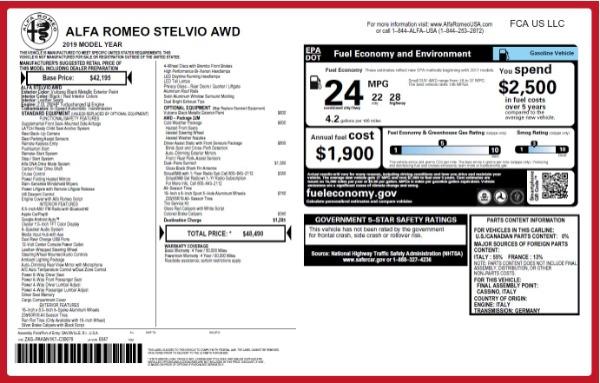 New 2019 Alfa Romeo Stelvio for sale Sold at Alfa Romeo of Greenwich in Greenwich CT 06830 27