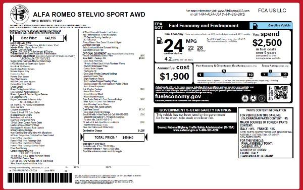 Used 2019 Alfa Romeo Stelvio Sport Q4 for sale Sold at Alfa Romeo of Greenwich in Greenwich CT 06830 15