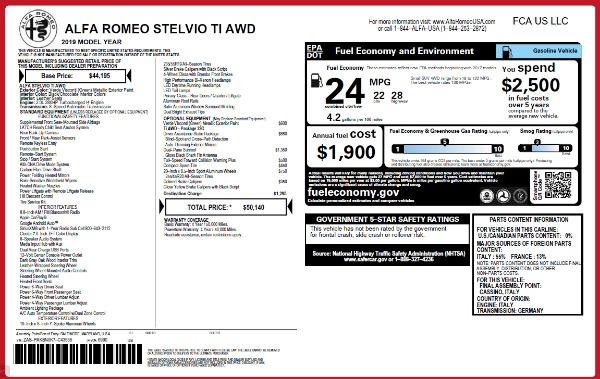 New 2019 Alfa Romeo Stelvio Ti Q4 for sale Sold at Alfa Romeo of Greenwich in Greenwich CT 06830 21
