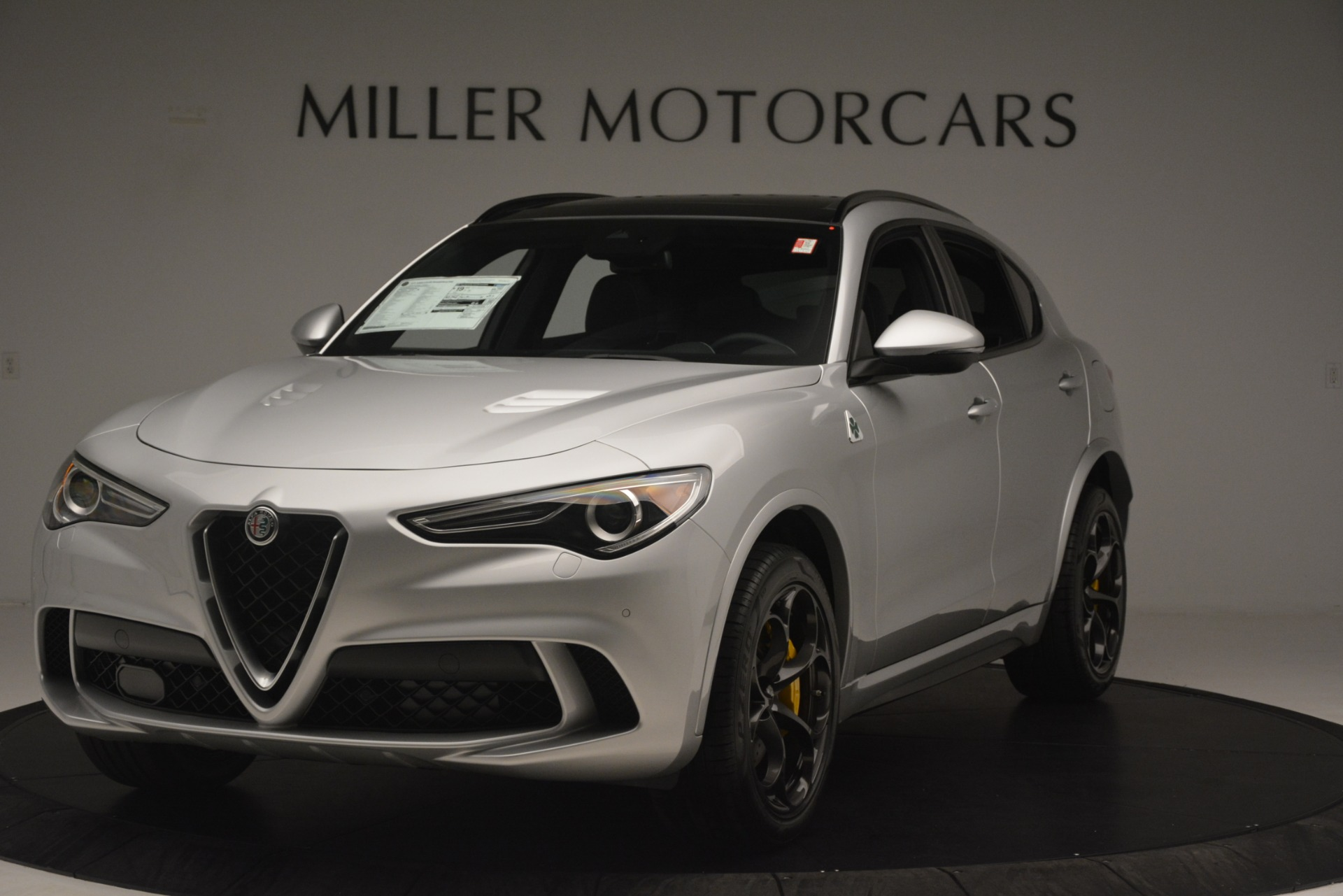 New 2019 Alfa Romeo Stelvio Quadrifoglio for sale $86,440 at Alfa Romeo of Greenwich in Greenwich CT 06830 1