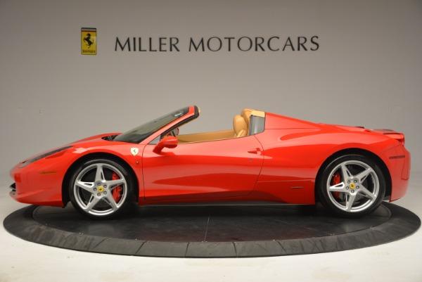 Used 2013 Ferrari 458 Spider for sale Sold at Alfa Romeo of Greenwich in Greenwich CT 06830 3