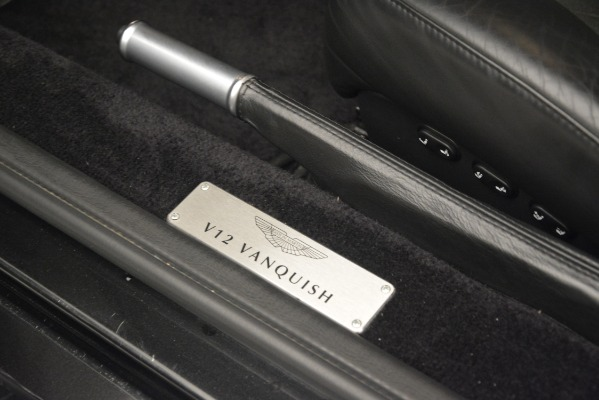 Used 2004 Aston Martin V12 Vanquish for sale Sold at Alfa Romeo of Greenwich in Greenwich CT 06830 19