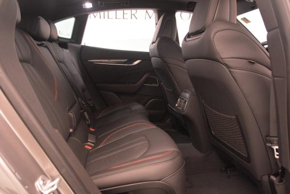 New 2019 Maserati Levante SQ4 GranSport Nerissimo for sale Sold at Alfa Romeo of Greenwich in Greenwich CT 06830 27
