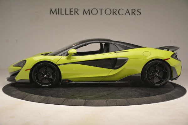 New 2020 McLaren 600LT SPIDER Convertible for sale $281,570 at Alfa Romeo of Greenwich in Greenwich CT 06830 3