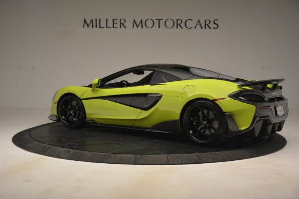 New 2020 McLaren 600LT SPIDER Convertible for sale $281,570 at Alfa Romeo of Greenwich in Greenwich CT 06830 4