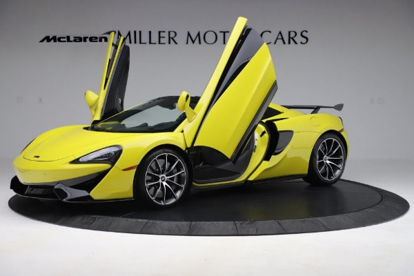 New 2019 McLaren 570S SPIDER Convertible for sale $227,660 at Alfa Romeo of Greenwich in Greenwich CT 06830 18