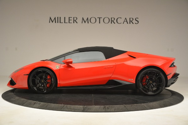 Used 2017 Lamborghini Huracan LP 610-4 Spyder for sale Sold at Alfa Romeo of Greenwich in Greenwich CT 06830 11