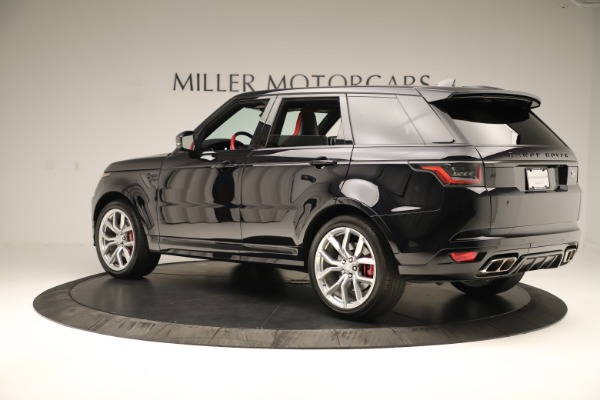 Used 2019 Land Rover Range Rover Sport SVR for sale Sold at Alfa Romeo of Greenwich in Greenwich CT 06830 4