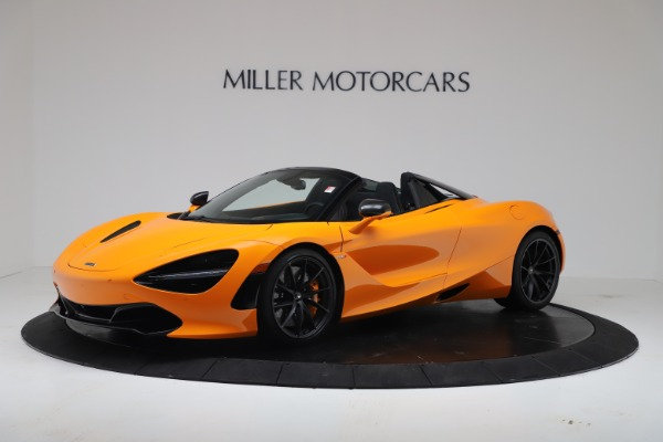 New 2020 McLaren 720S Spider Convertible for sale $374,440 at Alfa Romeo of Greenwich in Greenwich CT 06830 1