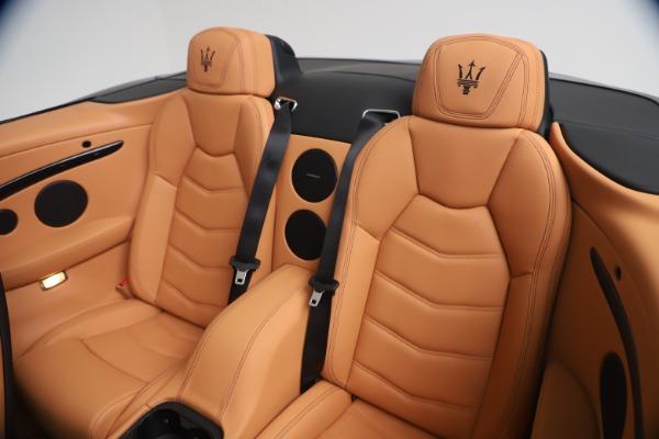 New 2019 Maserati GranTurismo Sport Convertible for sale $161,970 at Alfa Romeo of Greenwich in Greenwich CT 06830 24