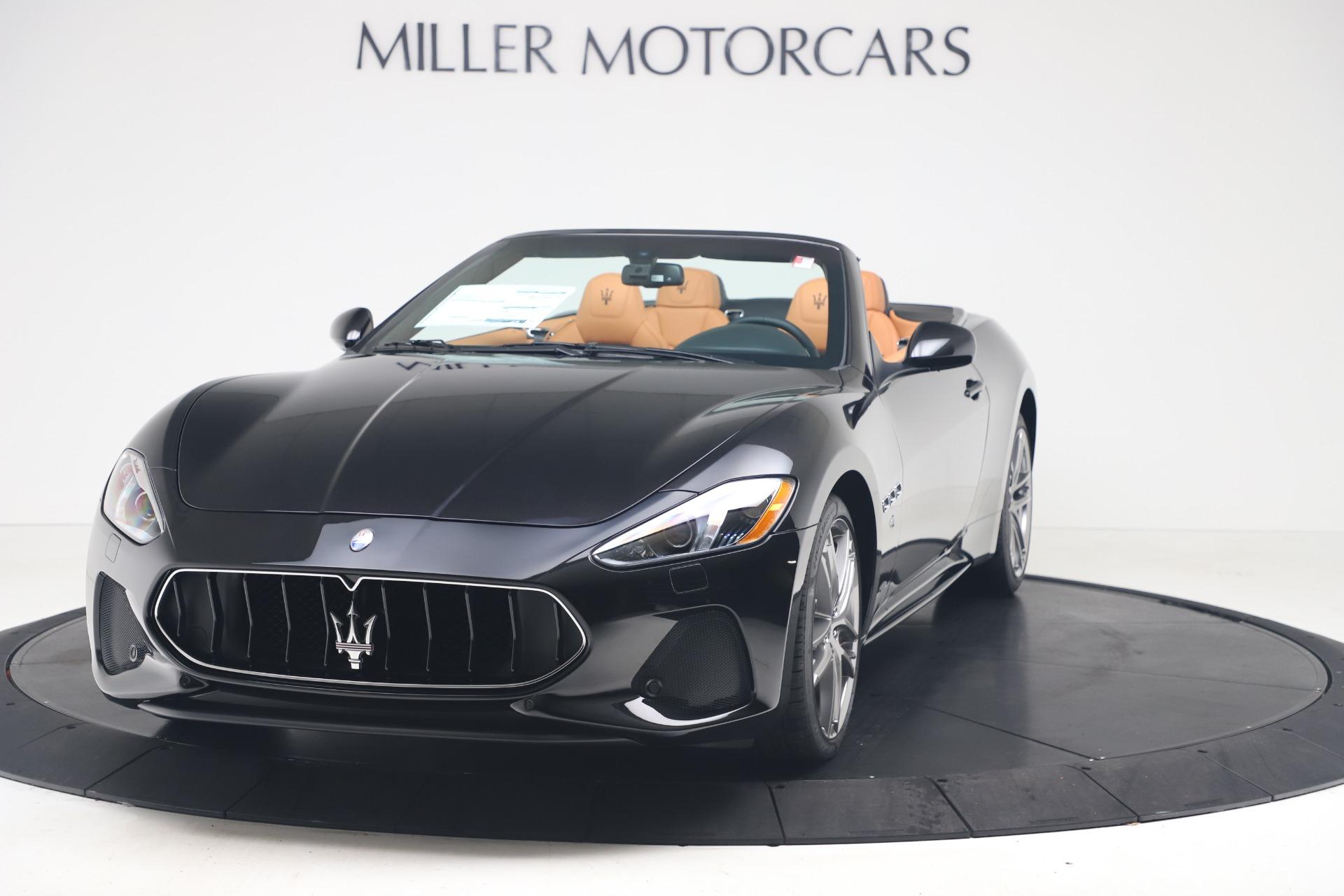 New 2019 Maserati GranTurismo Sport Convertible for sale $161,970 at Alfa Romeo of Greenwich in Greenwich CT 06830 1