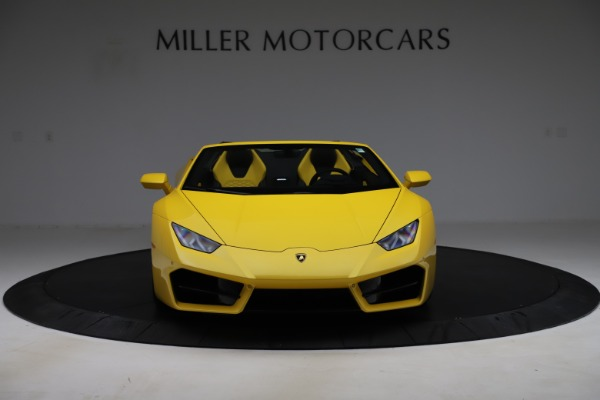 Used 2018 Lamborghini Huracan LP 580-2 Spyder for sale Sold at Alfa Romeo of Greenwich in Greenwich CT 06830 12