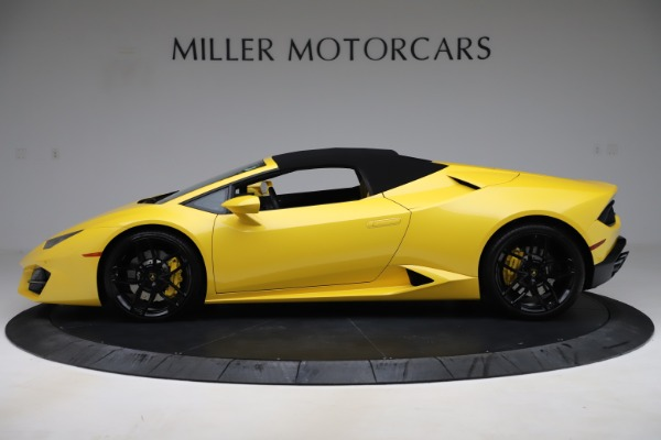 Used 2018 Lamborghini Huracan LP 580-2 Spyder for sale Sold at Alfa Romeo of Greenwich in Greenwich CT 06830 13