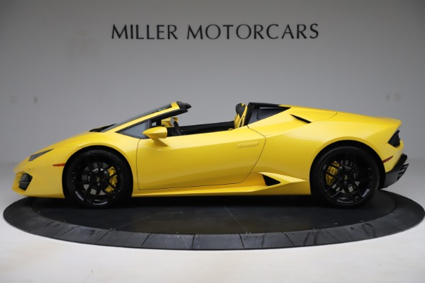 Used 2018 Lamborghini Huracan LP 580-2 Spyder for sale Sold at Alfa Romeo of Greenwich in Greenwich CT 06830 3