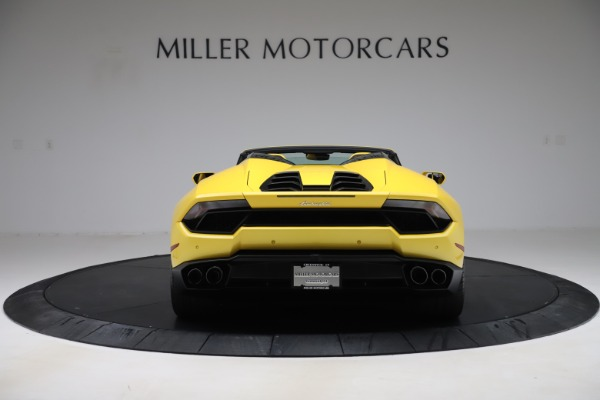 Used 2018 Lamborghini Huracan LP 580-2 Spyder for sale Sold at Alfa Romeo of Greenwich in Greenwich CT 06830 6
