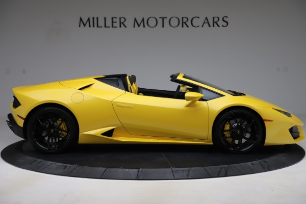 Used 2018 Lamborghini Huracan LP 580-2 Spyder for sale Sold at Alfa Romeo of Greenwich in Greenwich CT 06830 9