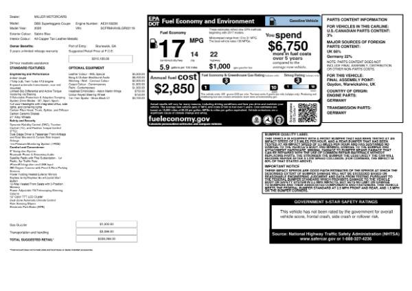 New 2020 Aston Martin DBS Superleggera for sale $338,286 at Alfa Romeo of Greenwich in Greenwich CT 06830 24
