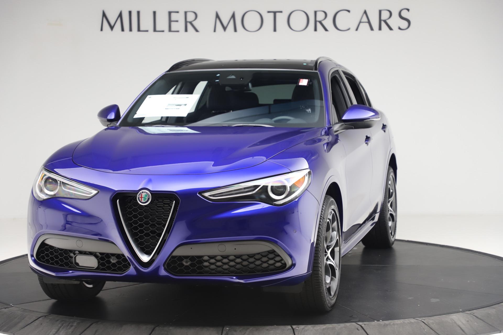 New 2020 Alfa Romeo Stelvio Ti Sport Q4 for sale $57,045 at Alfa Romeo of Greenwich in Greenwich CT 06830 1