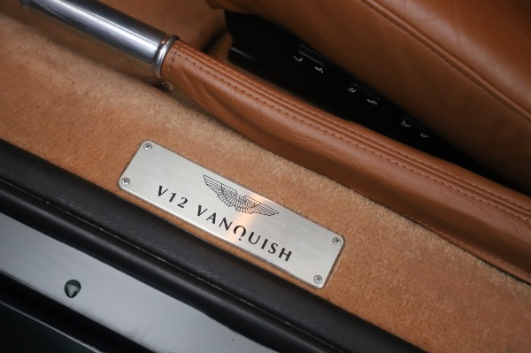 Used 2003 Aston Martin V12 Vanquish Coupe for sale $79,900 at Alfa Romeo of Greenwich in Greenwich CT 06830 16