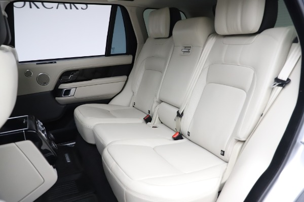 Used 2019 Land Rover Range Rover Supercharged LWB for sale Sold at Alfa Romeo of Greenwich in Greenwich CT 06830 19