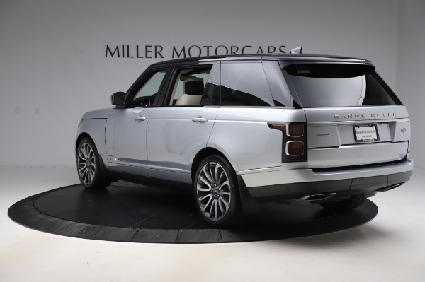 Used 2019 Land Rover Range Rover Supercharged LWB for sale Sold at Alfa Romeo of Greenwich in Greenwich CT 06830 5