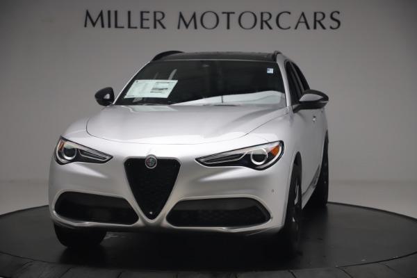 New 2020 Alfa Romeo Stelvio Ti Sport Q4 for sale $54,795 at Alfa Romeo of Greenwich in Greenwich CT 06830 1