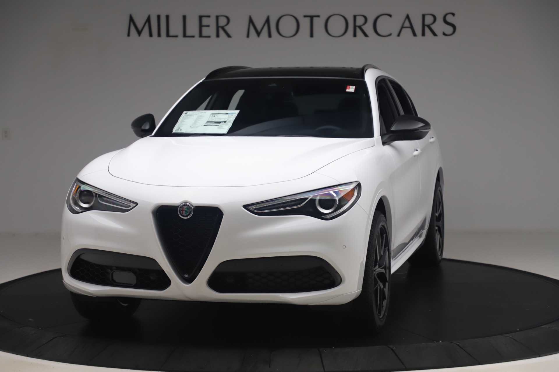 New 2020 Alfa Romeo Stelvio Ti Sport Q4 for sale $56,495 at Alfa Romeo of Greenwich in Greenwich CT 06830 1