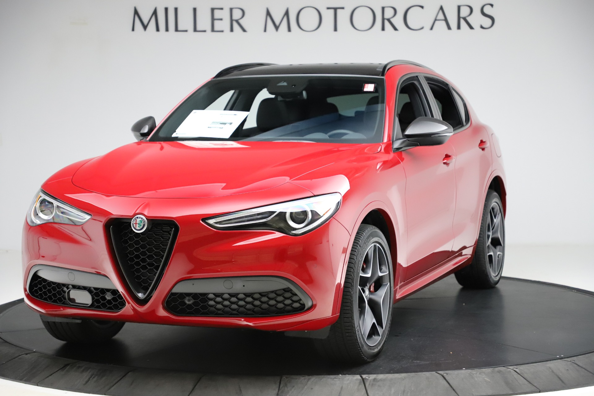 New 2020 Alfa Romeo Stelvio Ti Sport Carbon Q4 for sale Sold at Alfa Romeo of Greenwich in Greenwich CT 06830 1