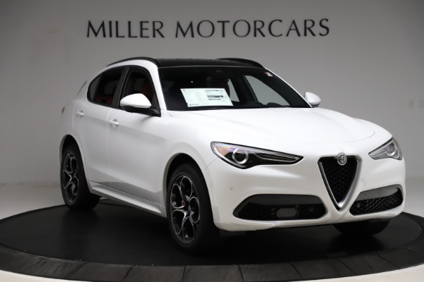 New 2020 Alfa Romeo Stelvio Ti Sport Q4 for sale $57,245 at Alfa Romeo of Greenwich in Greenwich CT 06830 11