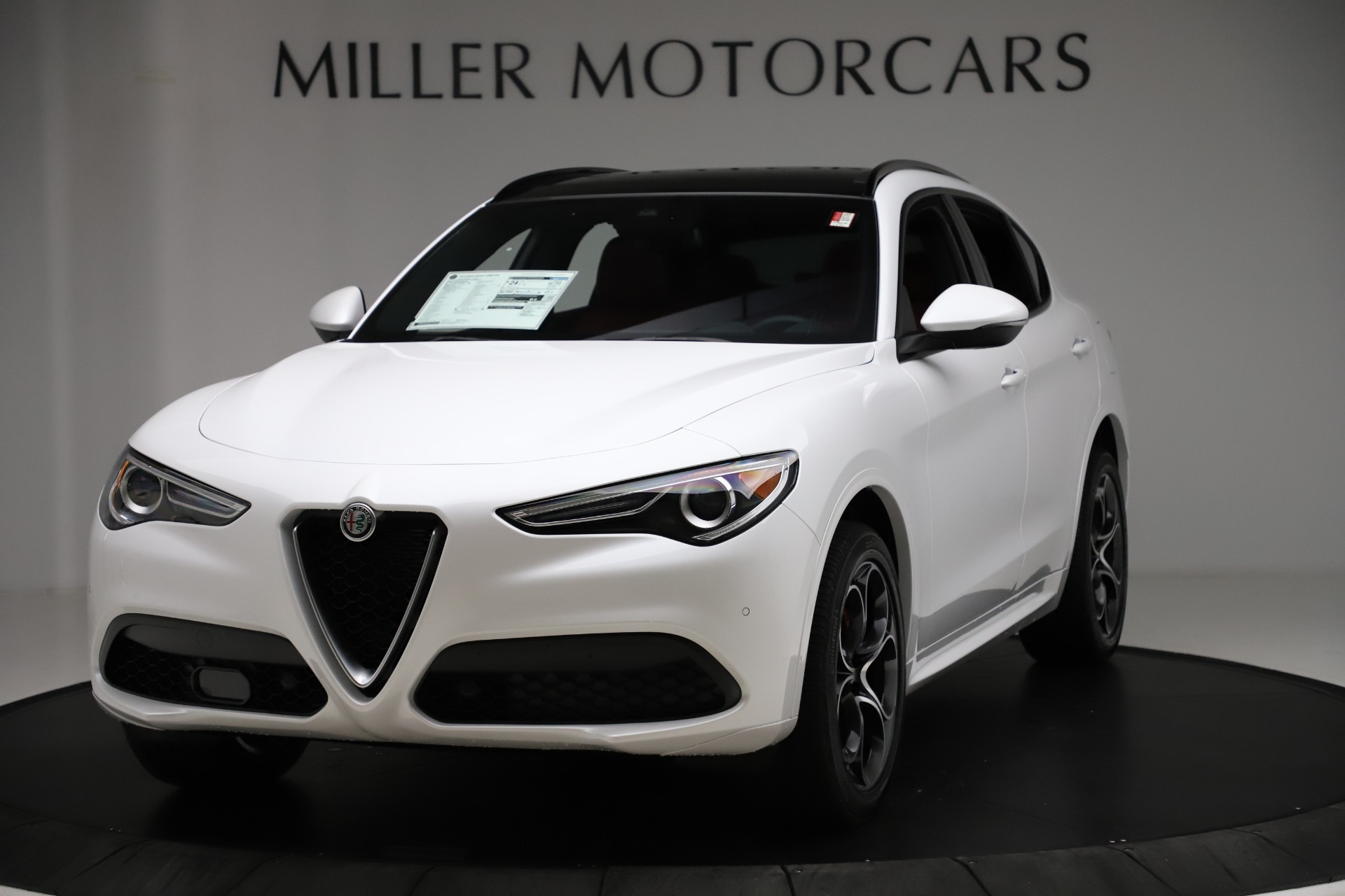 New 2020 Alfa Romeo Stelvio Ti Sport Q4 for sale $57,245 at Alfa Romeo of Greenwich in Greenwich CT 06830 1