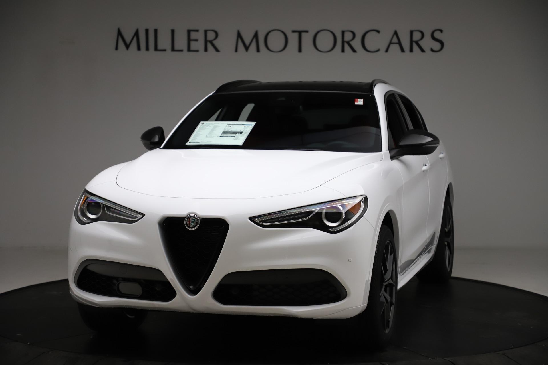 New 2021 Alfa Romeo Stelvio Ti Sport Q4 for sale $55,490 at Alfa Romeo of Greenwich in Greenwich CT 06830 1