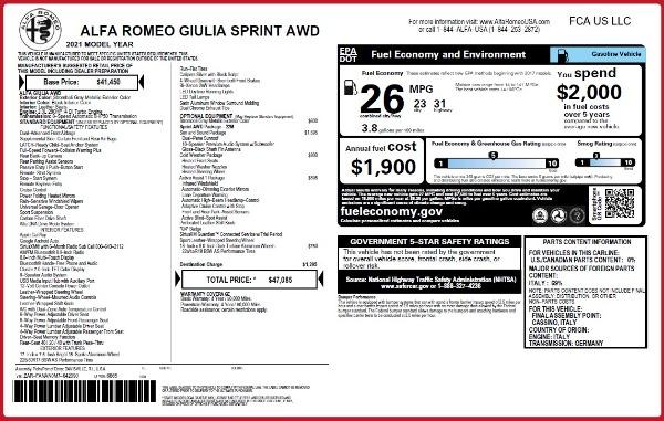New 2021 Alfa Romeo Giulia Q4 for sale Sold at Alfa Romeo of Greenwich in Greenwich CT 06830 28