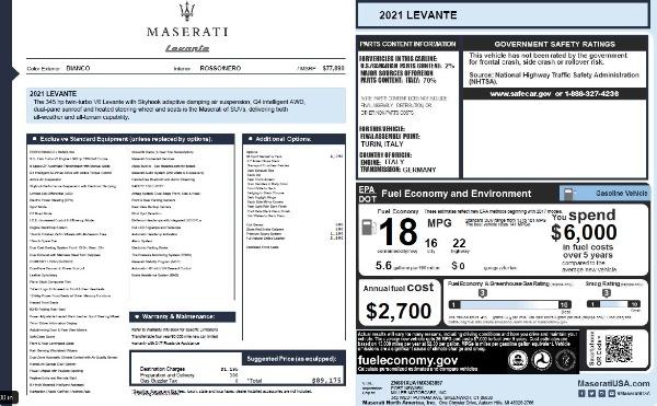 New 2021 Maserati Levante Q4 for sale $76,769 at Alfa Romeo of Greenwich in Greenwich CT 06830 27