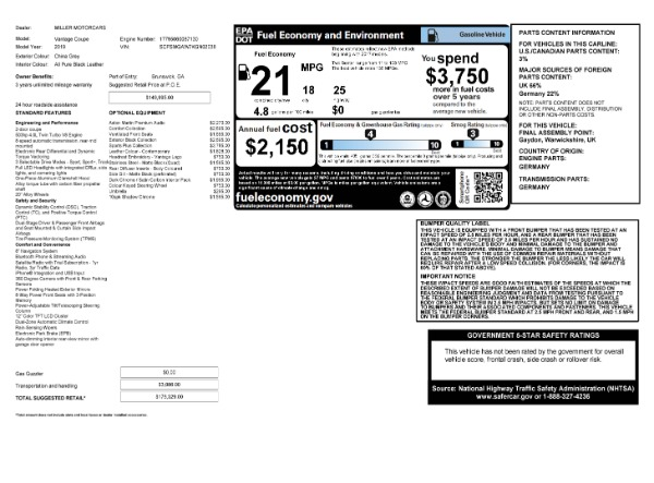 Used 2019 Aston Martin Vantage Coupe for sale $129,900 at Alfa Romeo of Greenwich in Greenwich CT 06830 23
