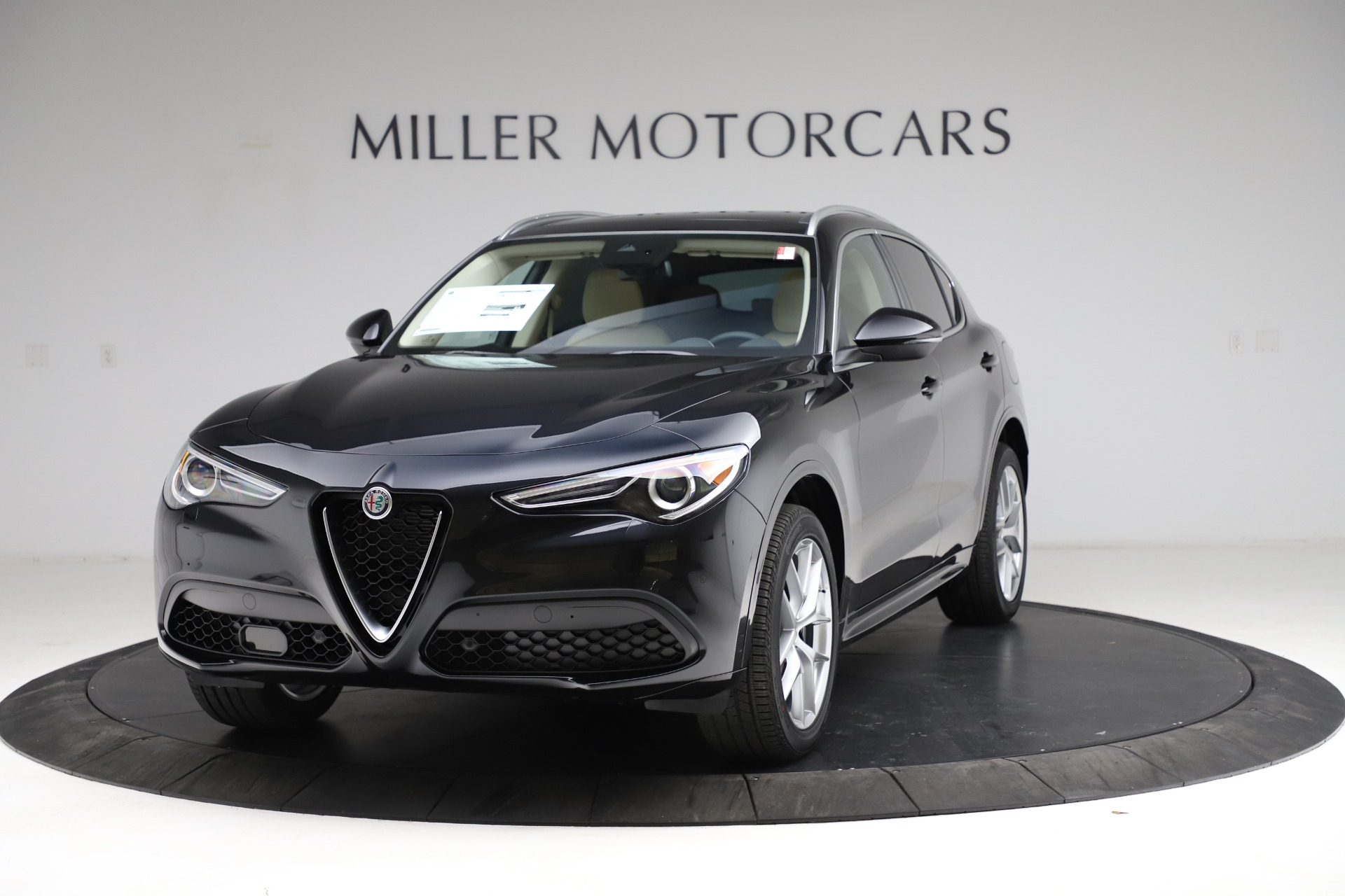New 2021 Alfa Romeo Stelvio Ti Lusso Q4 for sale $57,750 at Alfa Romeo of Greenwich in Greenwich CT 06830 1