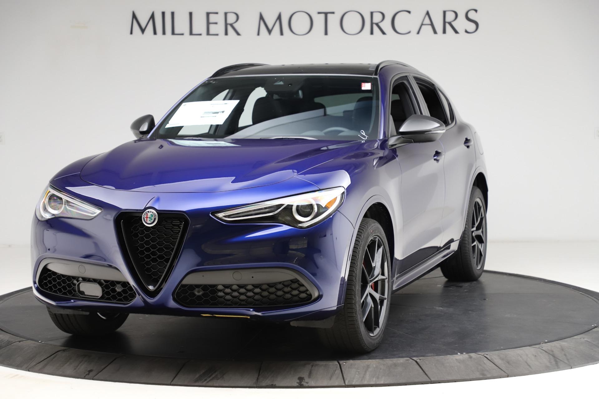 New 2021 Alfa Romeo Stelvio Ti Sport Q4 for sale $56,750 at Alfa Romeo of Greenwich in Greenwich CT 06830 1