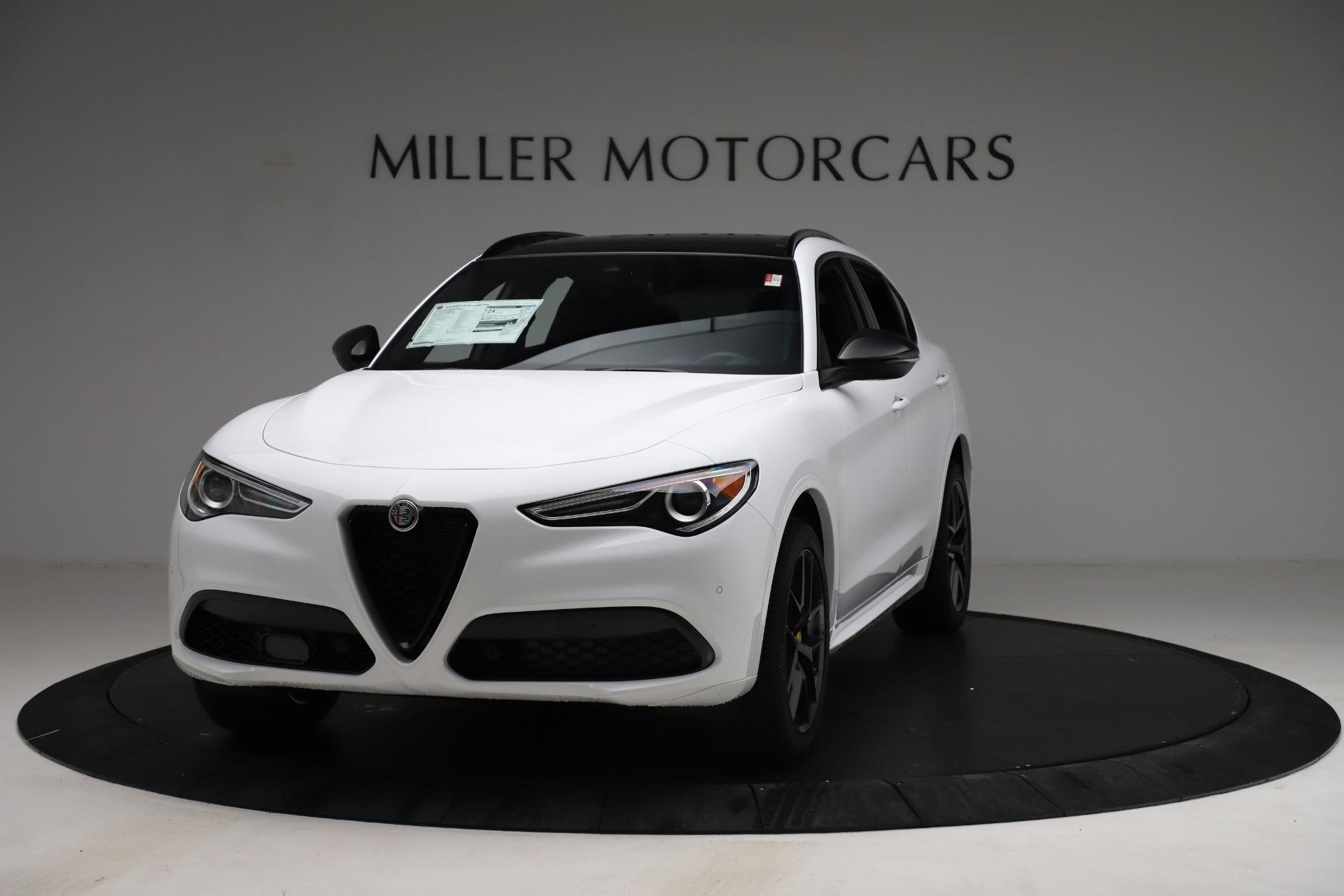 New 2021 Alfa Romeo Stelvio Ti Sport Q4 for sale $56,040 at Alfa Romeo of Greenwich in Greenwich CT 06830 1