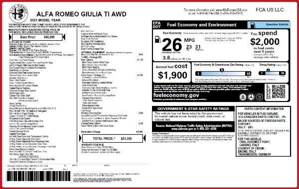 New 2021 Alfa Romeo Giulia Ti Q4 for sale Sold at Alfa Romeo of Greenwich in Greenwich CT 06830 2