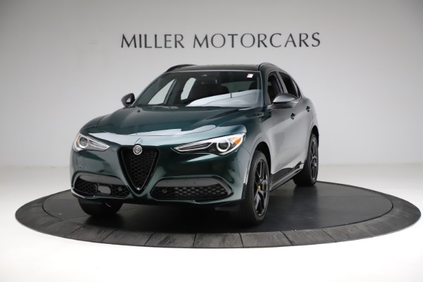 New 2021 Alfa Romeo Stelvio Ti Sport Q4 for sale $56,600 at Alfa Romeo of Greenwich in Greenwich CT 06830 1