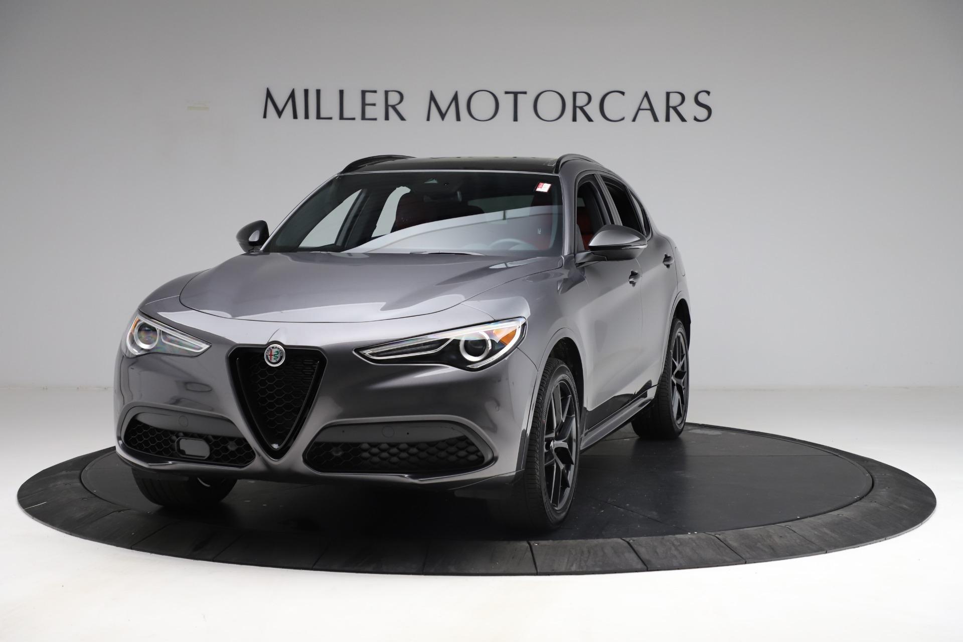 New 2021 Alfa Romeo Stelvio Ti Sport Q4 for sale $55,950 at Alfa Romeo of Greenwich in Greenwich CT 06830 1