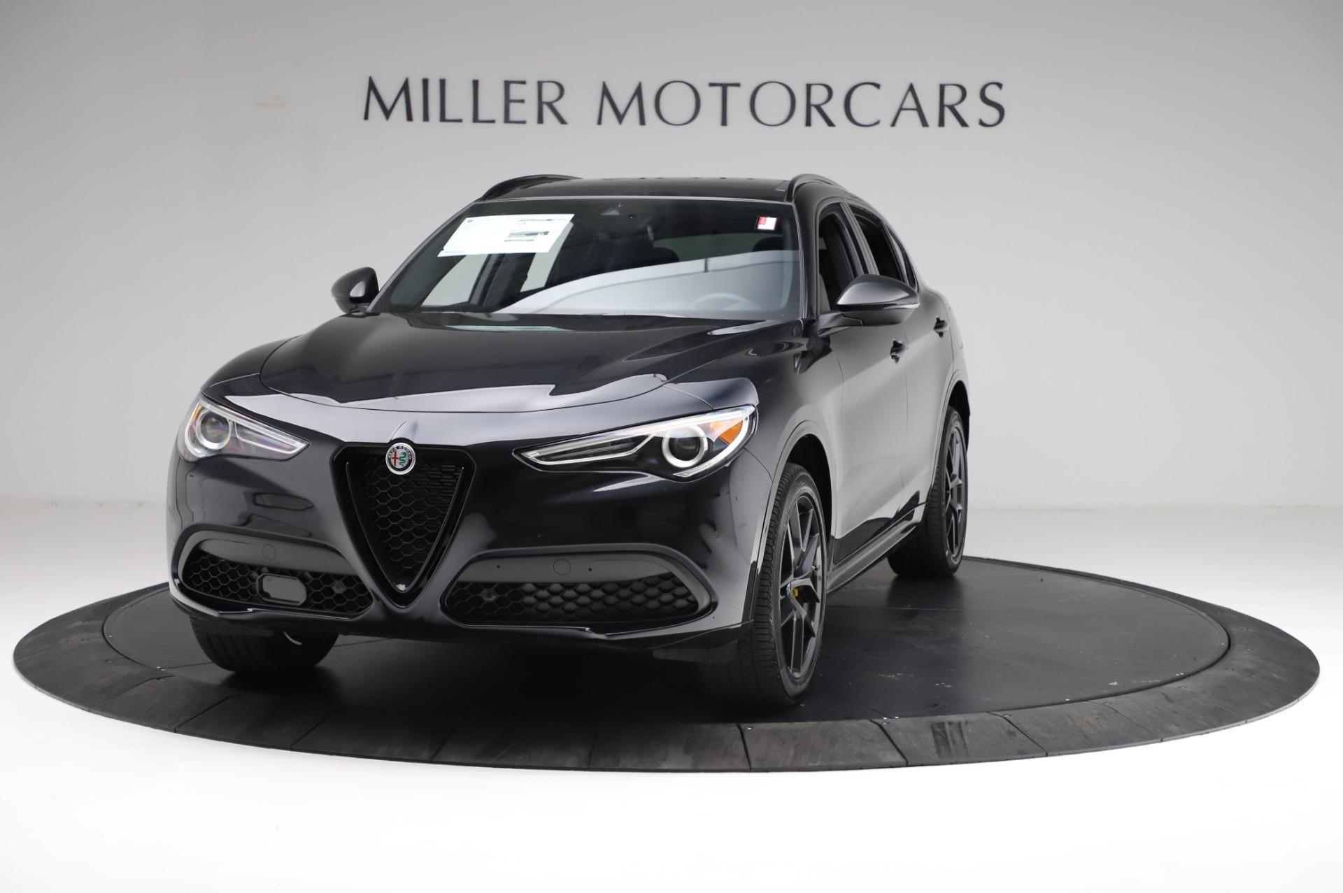 New 2021 Alfa Romeo Stelvio Ti Sport Q4 for sale $57,395 at Alfa Romeo of Greenwich in Greenwich CT 06830 1