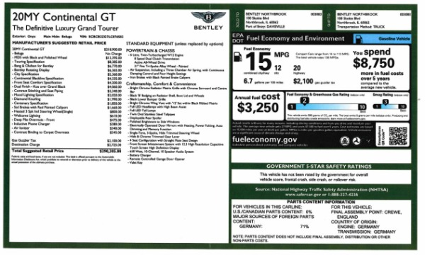 Used 2020 Bentley Continental GT W12 for sale $279,900 at Alfa Romeo of Greenwich in Greenwich CT 06830 28