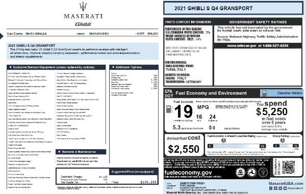 New 2021 Maserati Ghibli S Q4 GranSport for sale Sold at Alfa Romeo of Greenwich in Greenwich CT 06830 2