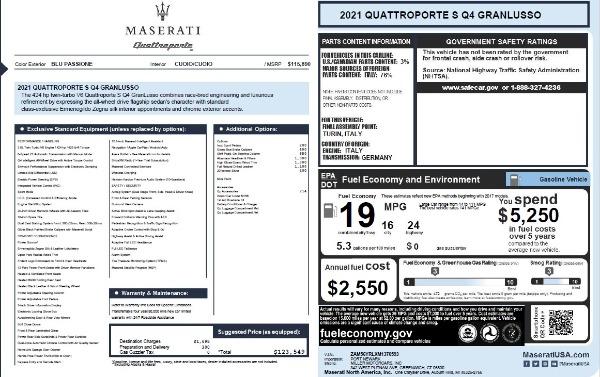 New 2021 Maserati Quattroporte S Q4 GranLusso for sale $123,549 at Alfa Romeo of Greenwich in Greenwich CT 06830 25