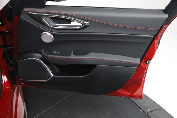 New 2021 Alfa Romeo Giulia Quadrifoglio for sale $83,740 at Alfa Romeo of Greenwich in Greenwich CT 06830 24